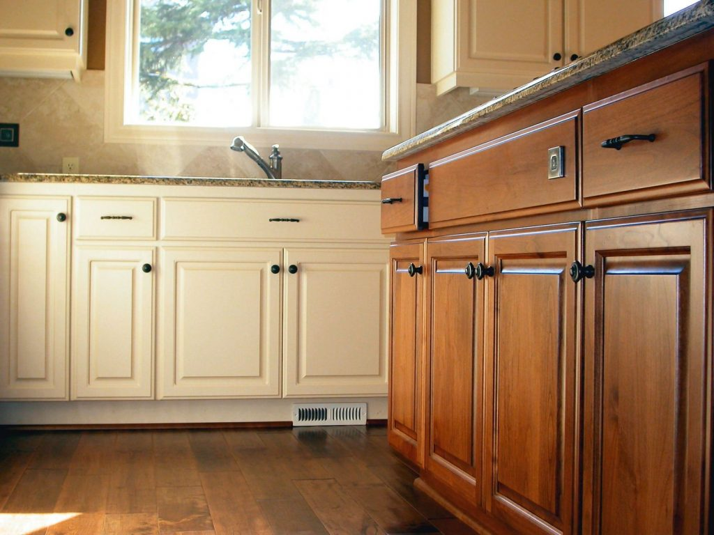 kitchen cabinets freshly installed